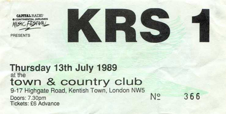 BDP ticket 13 July 1989
