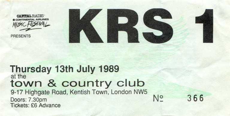 BDP ticket 13 July 1989