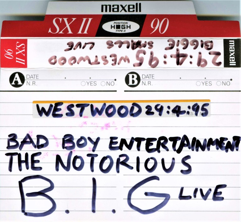 Puff Daddy Biggie Smalls Craig Mack & DJ 4-5 Hammersmith Palais London March 19th 1995