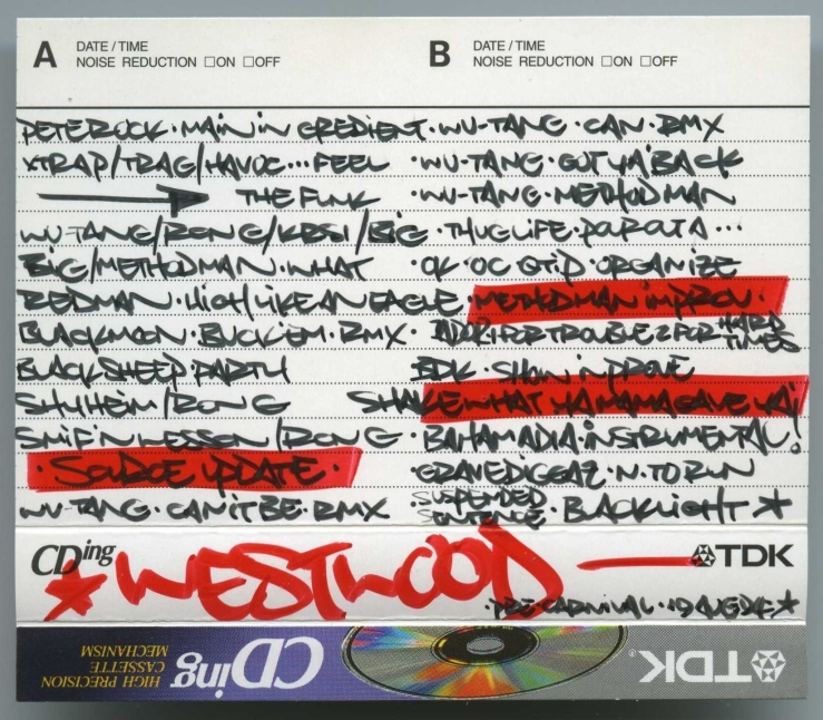 Westwood – Capital Rap Show 19 August 1994 J-Card