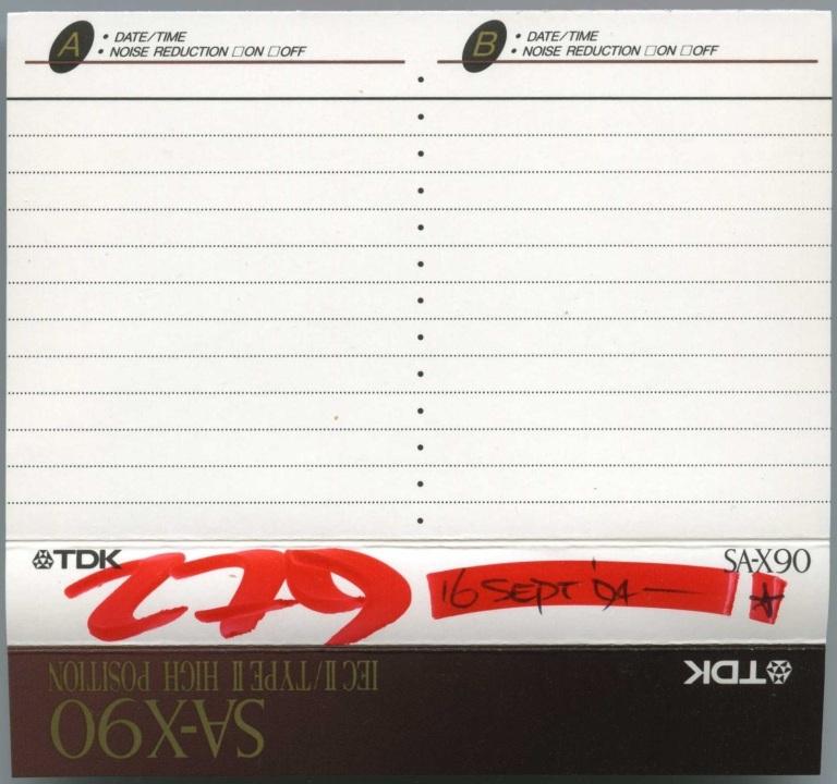 DJ 279 - Friday Night Flavas - 16 September 1994 J-Card