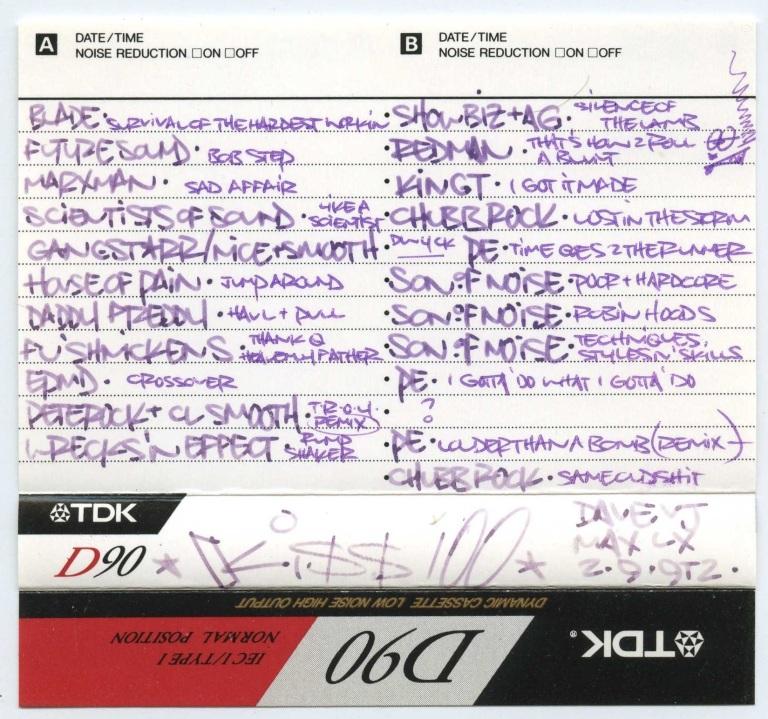 Max & Dave - 2 September 1992 J-Card