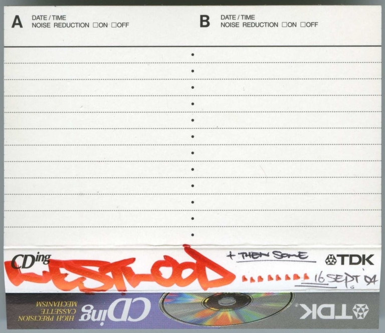 Westwood - 16 September 1994 J-Card