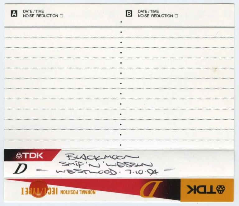 Westwood - 7 October 1994 J-Card
