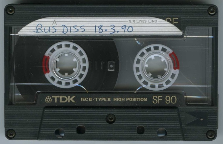 Stu Allan [Bus Diss - Key103FM Manchester] - 18 March 1990 - Tape