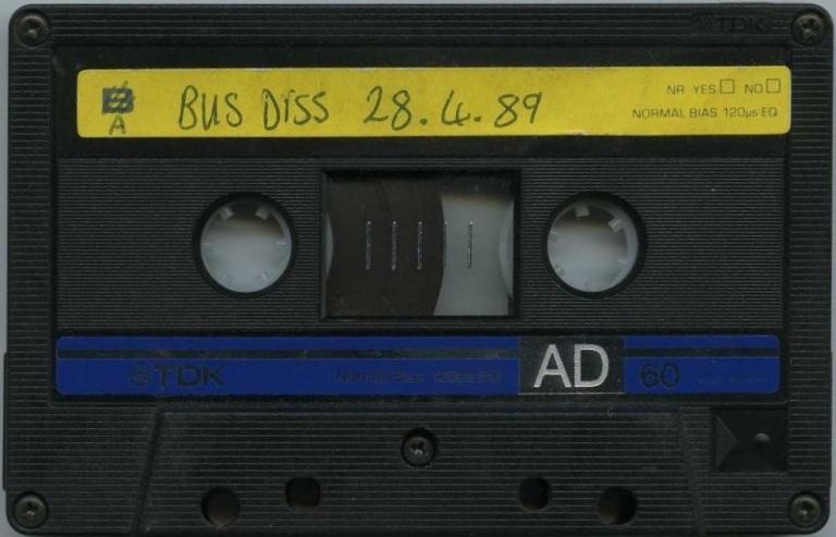 Stu Allan - Bus Diss 28 April 1989 tape