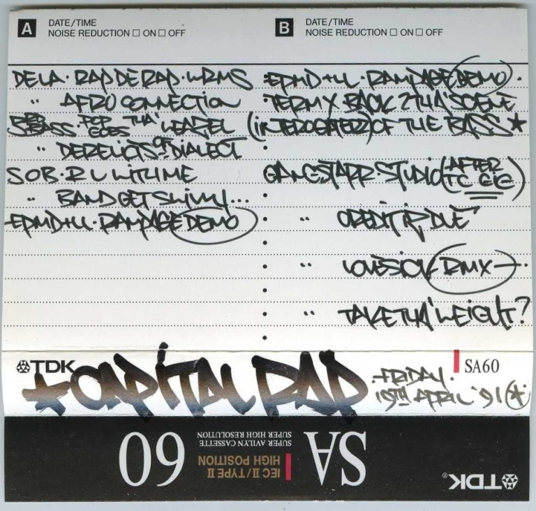 Westwood Feat Gangstarr [Capital Rap Show] - 19 April 1991 - J-Card