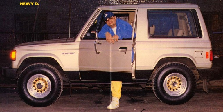 Heavy D only has one leg shock