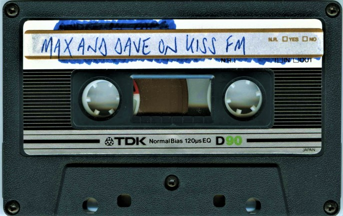 MAX & DAVE KISS FM 1993 TDK MA-X 90 TAPE (1)