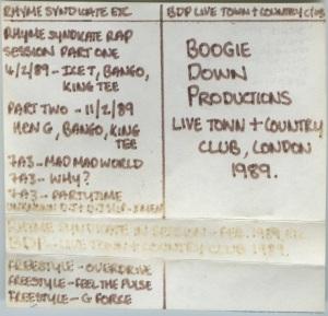 Rhyme Syndicate session on Capital Radio - February 1989