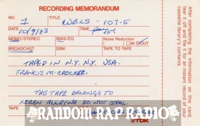 RECORDING MEMO RRR BANNER WIDE