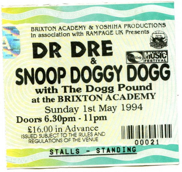 Snoop ticket stub