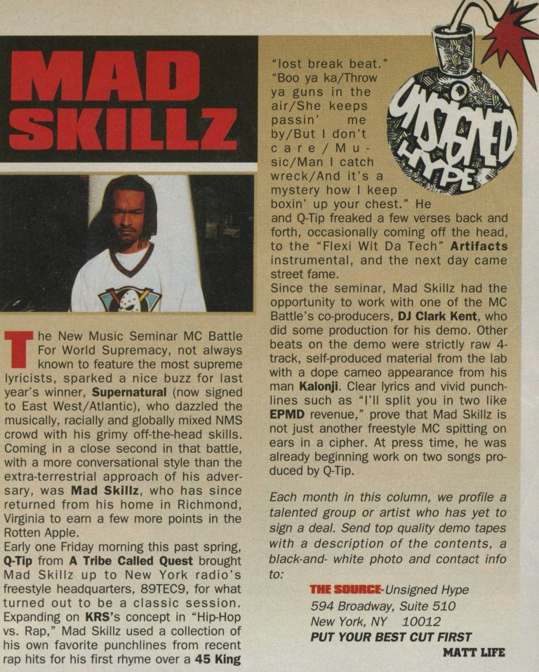 Mad Skillz - Unsigned Hype August 1994