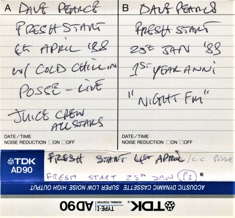 Dave Pearce - 24 Jan 1988 Nite FM 1st Birthday J-Card Part 1 Outer