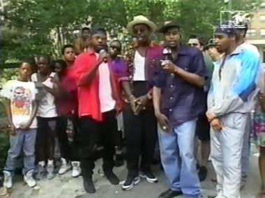 Nice n Smooth Fab 5 Freddy wearing NIKE BW 3rd Anniversary Yo MTV Raps