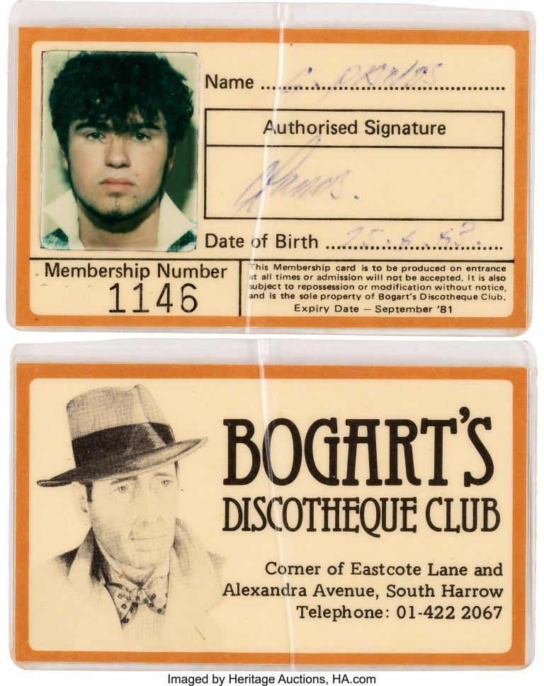 Bogarts Disco card